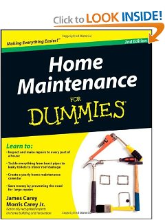 Home Maintenance for Dummies Book